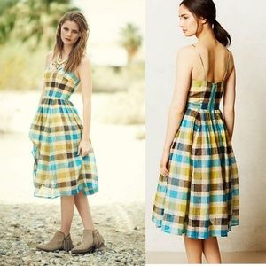 Anthropologie Tracy Reese Sunpane Dress